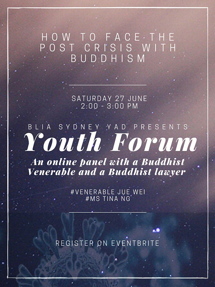 Youth Forum - How to Face the Post Crisis with Buddhism image