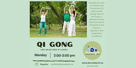 BNH Online Qi Gong via Zoom tickets