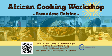 African Cooking Workshop - Rwandese Cuisine - tickets