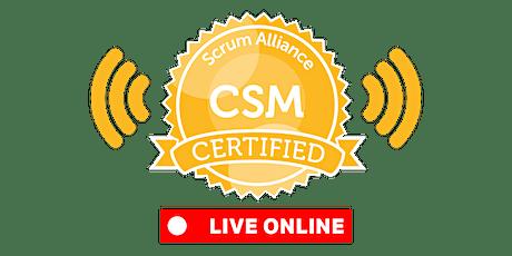 LIVE-ONLINE   Certified ScrumMaster® (CSM) tickets