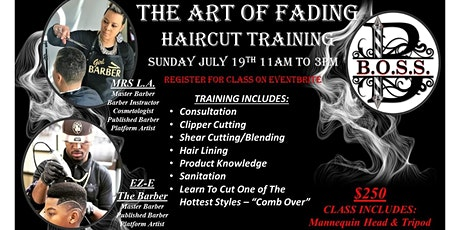 """""""The Art Of Fading"""" Haircut Training tickets"""