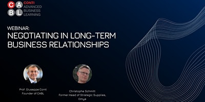 Webinar: Negotiating in Long-Term Business Relationships
