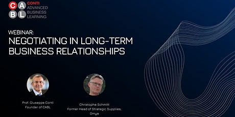 Webinar: Negotiating in Long-Term Business Relationships tickets