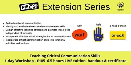 TEACHING CRITICAL COMMUNICATION SKILLS LIVE ONLINE WORKSHOP- Nov 6th tickets