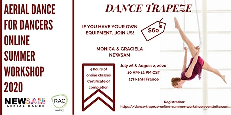Dance Trapeze - AERIAL DANCE FOR DANCERS ONLINE WORKSHOP 2020 tickets