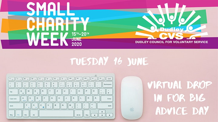 Virtual drop in for Small Charity Week image