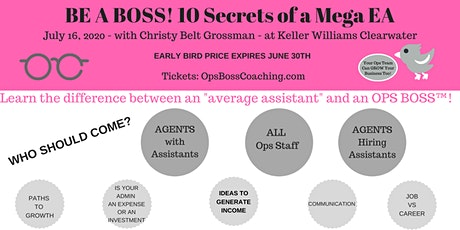 Be A Boss! 10 Secrets of a Mega EA tickets