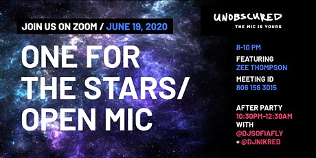 One For the Stars/ Open Mic tickets