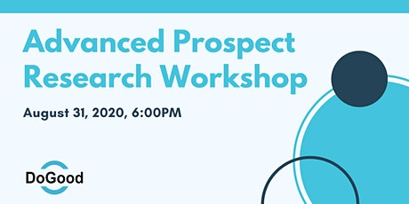 Advanced Prospect Research Workshop tickets