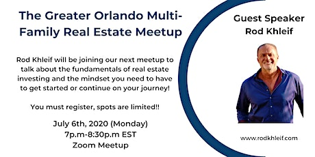Greater Orlando Multi Family Meetup with Guest Rod Khleif tickets