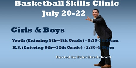 Basketball Skills Clinic - July 20-22 - SPLHS, Concordia, MO tickets