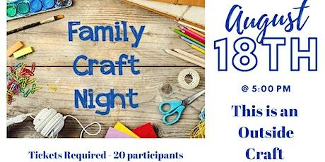 Family Craft Night tickets