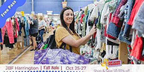 FREE Admission Pass | Oct 25-27 | JBF Harrington Fall Sale tickets