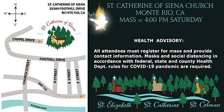4 PM Saturday Mass St. Catherine Monte Rio tickets