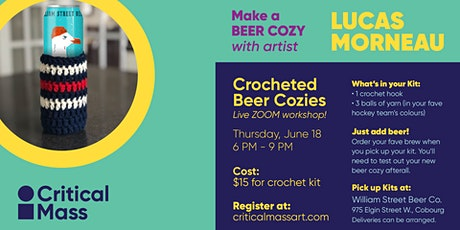 Crocheted Beer Cozies with Lucas Morneau tickets