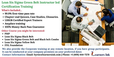 Lean Six Sigma Green Belt Certification Training C