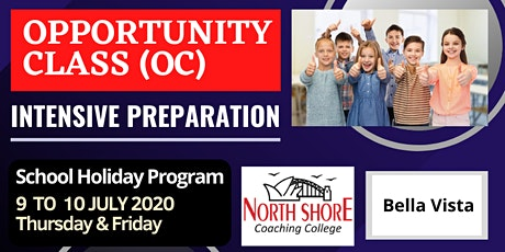 OPPORTUNITY CLASS (OC) - INTENSIVE TEST PREPARATION tickets