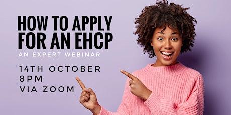 Applying for an EHCP - webinar tickets