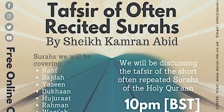 Tafsir of Often Recited Surahs tickets