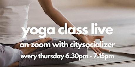 Yoga Class Live by Citysocializer tickets