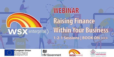 Raising finance within your business - 1-2-1 sessions tickets