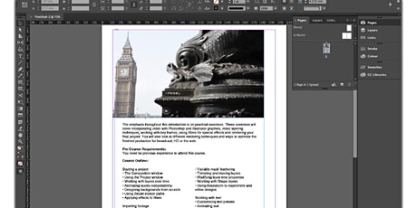 Adobe Indesign Basic Training tickets