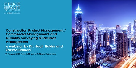 Webinar PG Session: Construction Project Management/  Facilities Management tickets