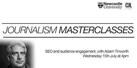 SEO and audience engagament for journalists, with Adam Tinworth tickets