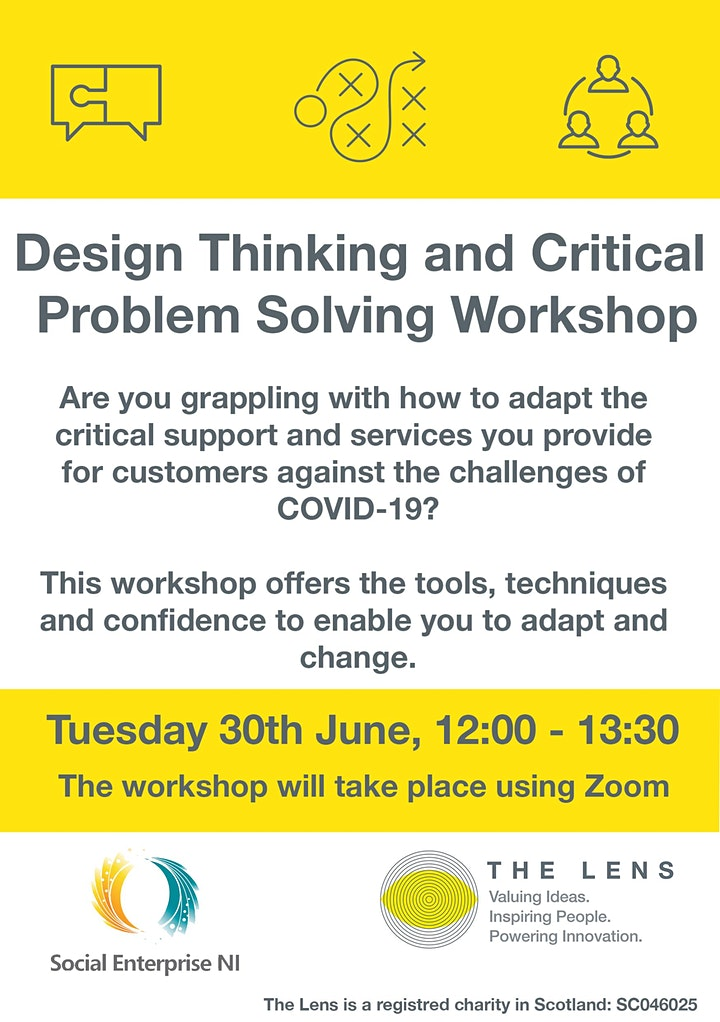 Design Thinking and Critical Problem Solving Workshop image