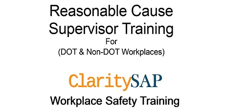 Reasonable Suspicion Supervisor Training tickets