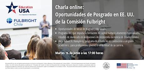 Oportunidades de Posgrado en EE. UU. de la Comisión Fulbright boletos