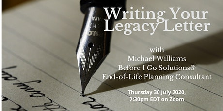 Writing Your Legacy Letter tickets