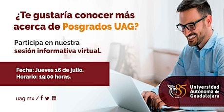 Sesión informativa virtual de posgrados entradas