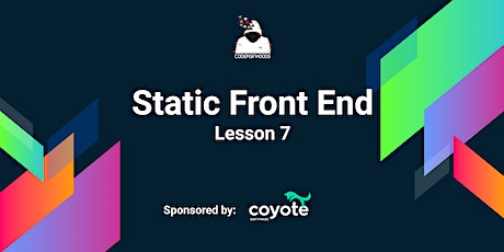 Static frontend Course(Free): Lesson 7 tickets