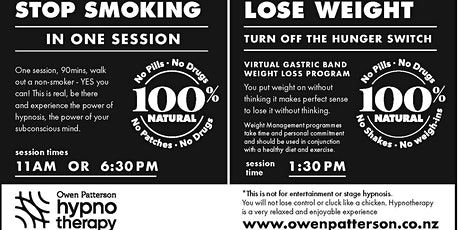 Stop Smoking or Lose Weight with Owen Patterson tickets