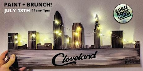 Rustic Cleveland Skyline [Light Up] | Paint + Brun tickets