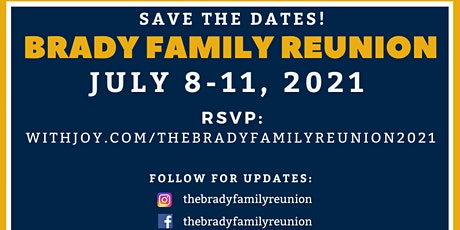 Brady Family Reunion 2021 tickets