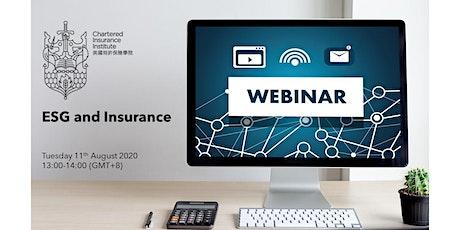 CIIHK Webinar - ESG and Insurance tickets