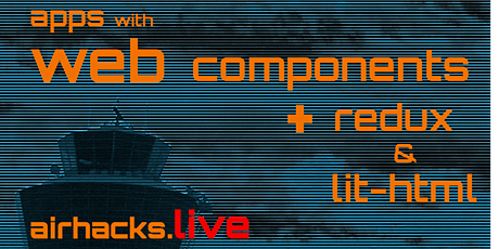 building applications with native web components, redux and lit-html tickets