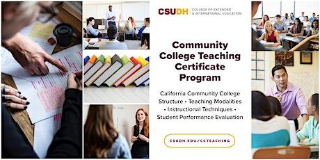 Info Session: CSUDH Community College Teaching Cert. | Webinar (8/8/20) tickets