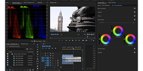 Adobe Premiere Pro Colour Grading Basics tickets