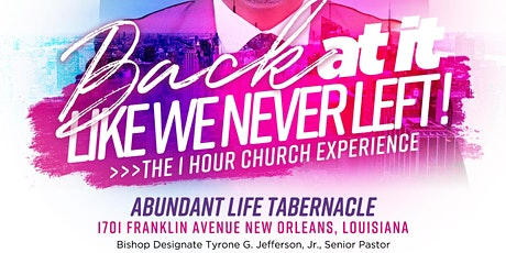 REOPENING OF DA TABERNACLE tickets