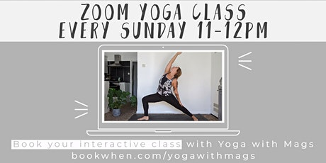 Slow Flow Yoga with Mags ON ZOOM tickets
