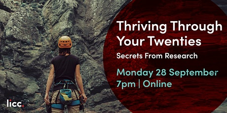 Thriving through Your Twenties: Secrets From Research tickets
