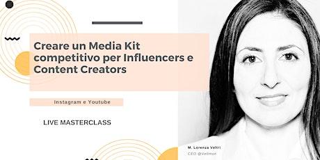 Come creare un Media Kit per Influencers e Content Creators (IG & YT) biglietti