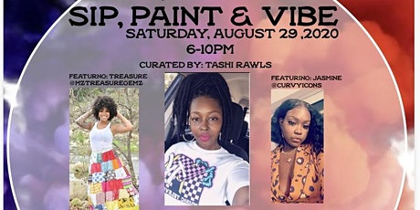 """Speak Your Peace Presents"" Sip, Paint and Vibe tickets"