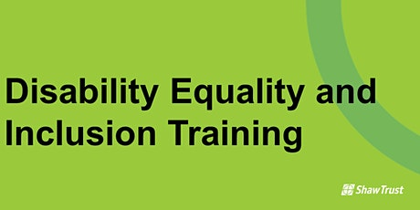 Disability Equality and Inclusion Training tickets