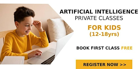 Artificial Intelligence Live Online Class 12-18 years (3 Student per class) tickets