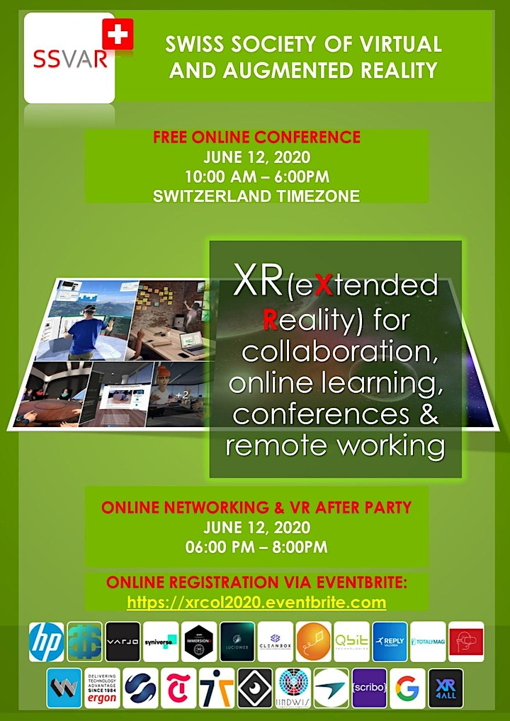 XR for collaboration, conferences, online learning and remote working image