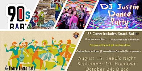DJ Justin Dave Party: Disco tickets